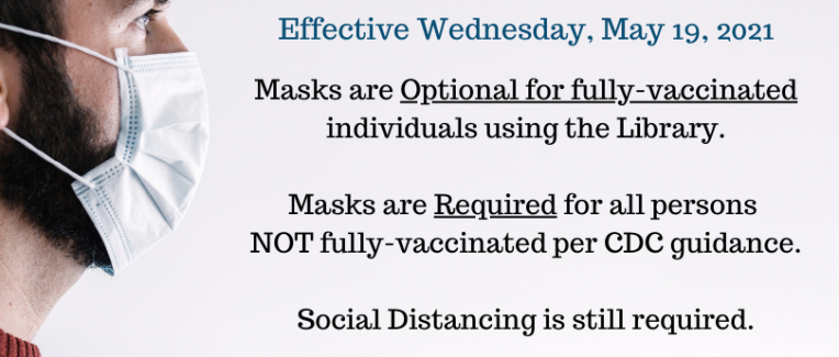 Masks not required for those fully vaccinated.