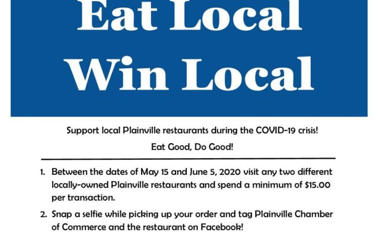 Eat Local - Win Local Flyer